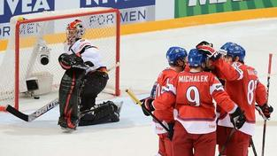 Hokejisté rozdrtili Němce 8:1 a jdou ve čtvrtfinále na Švédy
