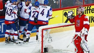Hokejisté nestačili na Slovensko a budou hrát o bronz