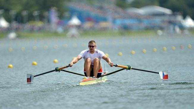 Image: 0138875743, License: Rights managed, Czech Republic's Ondrej Synek competes in the men's single sculls heat 6 of the rowing event during the London 2012 Olympic Games, at Eton Dorney Rowing Centre in Eton, west of London, on July 28, 2012., Place: UNITED KINGDOM, Model Release: No or not aplicable, Credit line: Profimedia.cz, AFP
