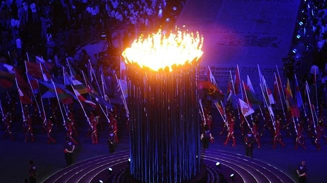Image: 0139702093, License: Rights managed, Restrictions: 0, LONDON, GREAT BRITAIN. AUGUST 12, 2012. The Olympic flame burns at the Olympic Stadium during the closing ceremony of the 2012 London Olympic Games., Place: United Kingdom, Model Release: No or not aplicable, Credit line: Profimedia.cz, ITAR-TASS