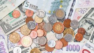 Koruna prolomila psychologickou hranici 25 Kč za Euro a dál posiluje