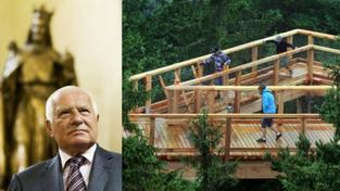 Václav Klaus dnes otevřel Stezku korunami stromů