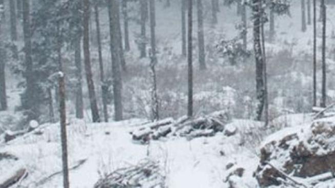 Na hřebenech hor začne sněžit, sníh by mohl vydržet