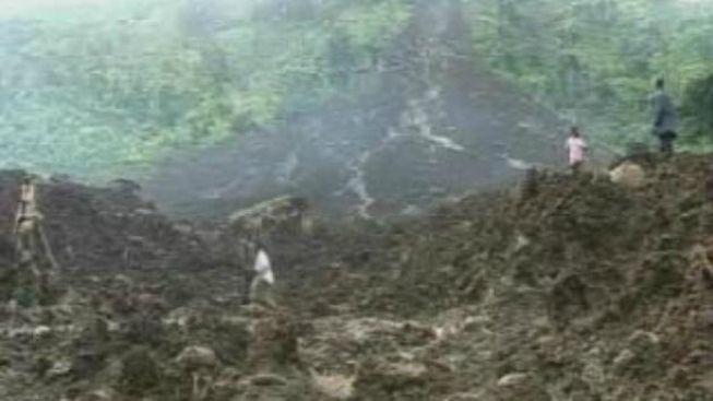 Sesuv půdy v Ugandě zavalil tři vesnice, možná až stovky mrtvých