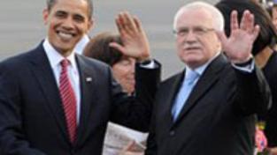 Americký prezident Obama dorazil do Prahy