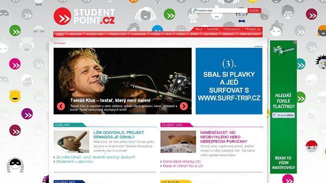 StudentPoint oslavil tři roky novým designem a rekordem v návštěvnosti
