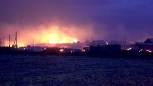Lesní požáry na Sibiři pronikly do blízkosti měst