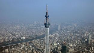 Lidé poprvé vyjeli na nejvyšší vysílač na světě