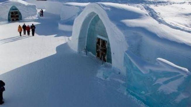 Tak trochu neobvyklý pobyt pro horkokrevné v ledovém hotelu
