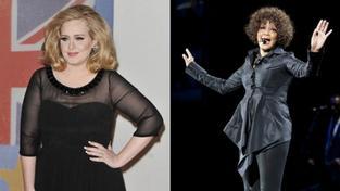 Adele pokořila rekord Whitney Houston na špici amerického žebříčku
