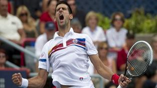 Djokovič deklasoval Federera, Ferrer porazil Nadala