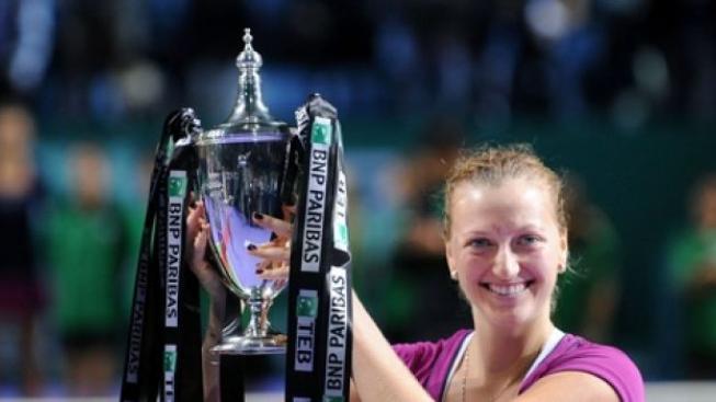 Debutantka Kvitová míří k vrcholu, vyhrála tenisový Turnaj mistryň