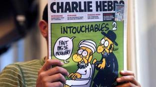 Karikatura Mohameda.