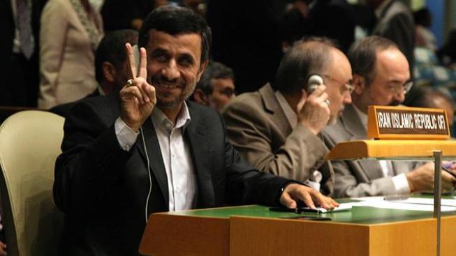 Ahmadínežád v OSN.