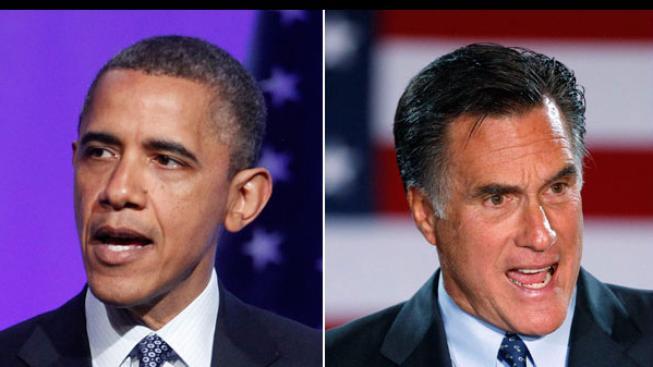 Barack Obama a Mitt Romney