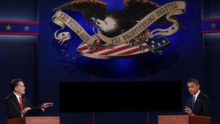 Televizní debata Romney versus Obama.