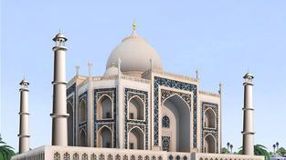 Replika slavné indické hrobky