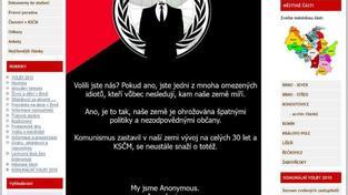 KSČM Brno po útoku hackerů.