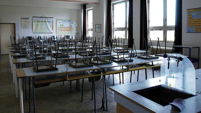 Prázdná učebna (ilustrační foto)