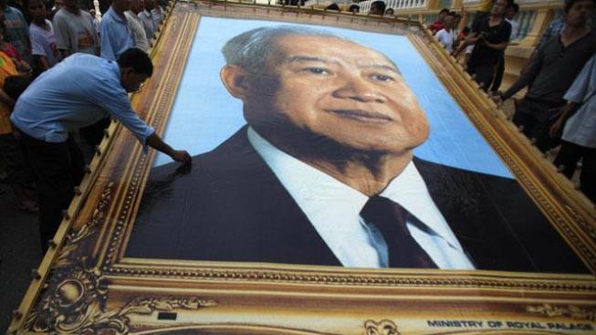 Kambodžský král.