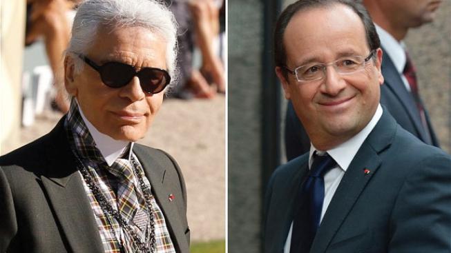 Lagerfeld (vlevo), Hollande