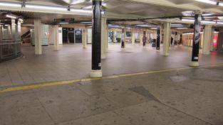 Uzavřená stanice metra v New Yorku