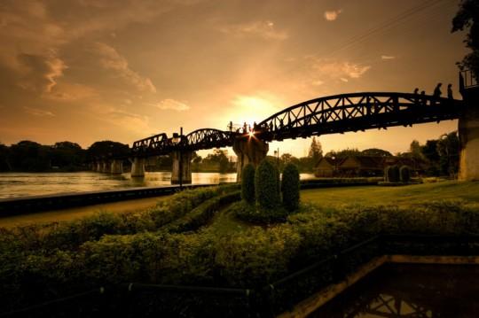 Thajsko s batůžkem: Most přes neexistujicí řeku Kwai