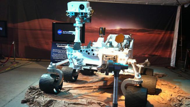 Sonda Curiosity, která přistála na Marsu.