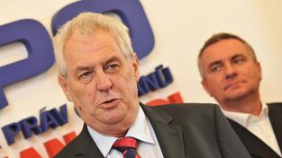 Miloš Zeman (vlevo)