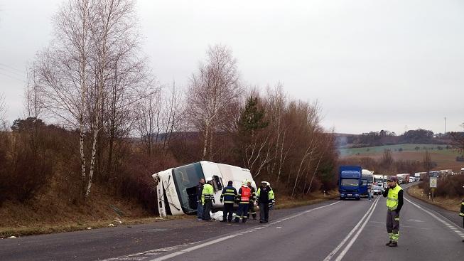 Nehoda autobusu (ilustrační foto)