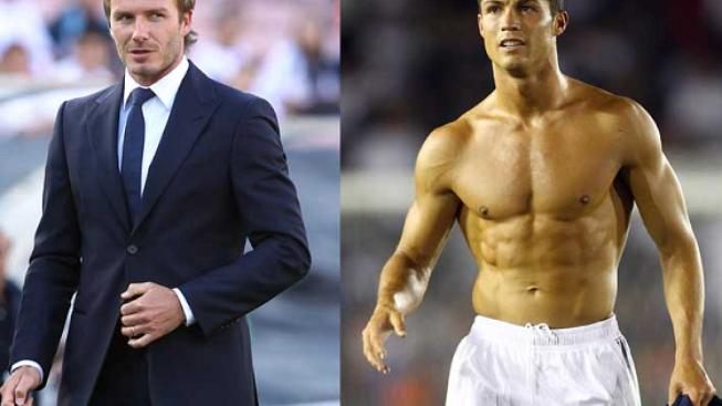 David Beckham (vlevo), Cristiano Ronaldo