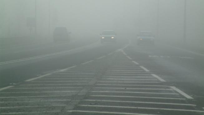 Mlha a mráz na cestách