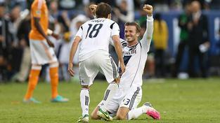 David Beckham (vlevo)