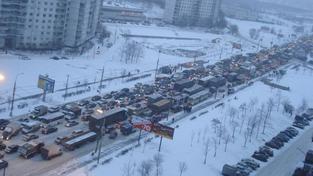 Obrovské kolony v Rusku