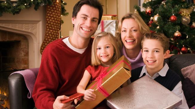 Rodina na Vánoce