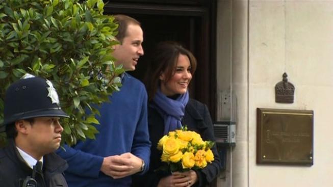 William s Kate opouští nemocnici