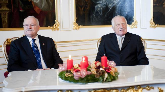 Ivan Gašparovič a Václav Klaus.