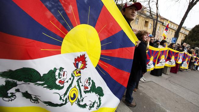Tibetská vlajka (ilustrační foto).
