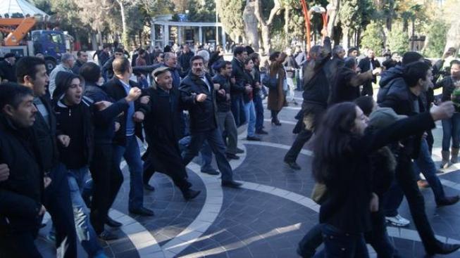 Demonstrace v Baku.