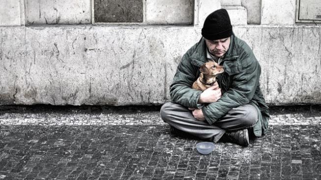 Pražský bezdomovec.