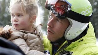 Bode Miller se svou dcerou