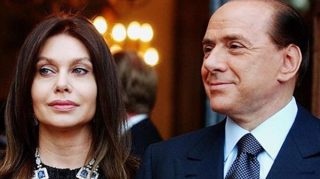 Silvio Berlusconi s exmanželkou