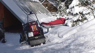 Smrt lyžaře (ilustrační foto)