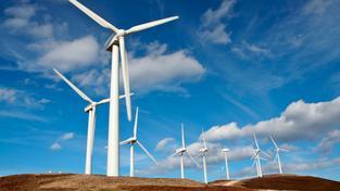 Větrné elektrárny (ilustrační fotografie)