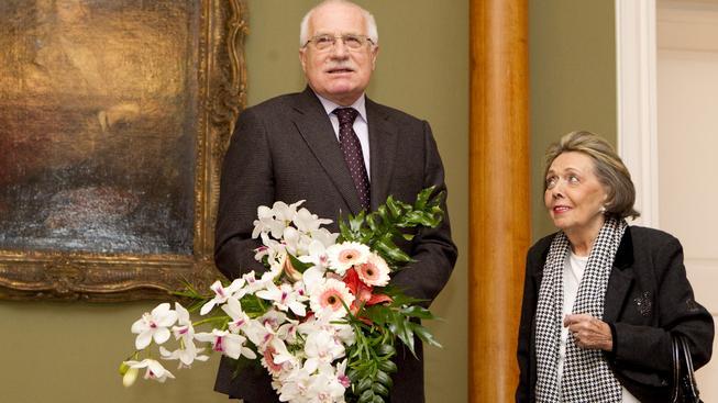 Václav Klaus a Jiřina Jirásková.