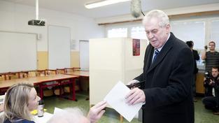 Miloš Zeman u voleb
