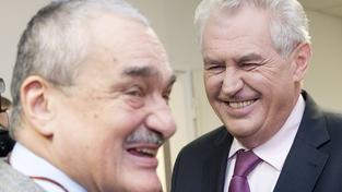 Karel Schwarzenberg a Miloš Zeman