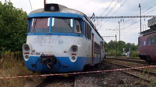 Vlak vykolejil (ilustrační foto)