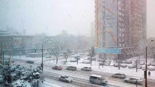 Sněžení v Bratislavě
