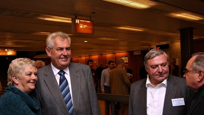Zeman se Šloufem (vpravo)